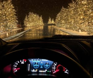 christmas, car, and light image