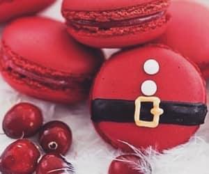 christmas, macarons, and red image