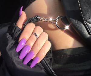 girly, longnails, and lila image