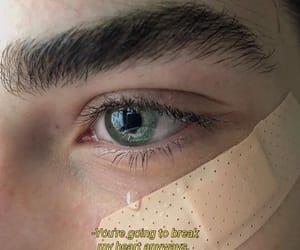 bandaid, crying, and eyes image
