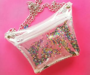 etsy, glitter waist bag, and festival style bag image