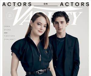emma stone and timothee chalamet image