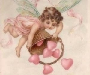 fairy, hearts, and vintage image
