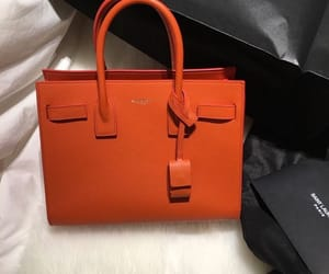 bag, fashion, and orange image
