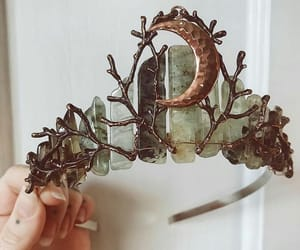 boho, crown, and hippie image