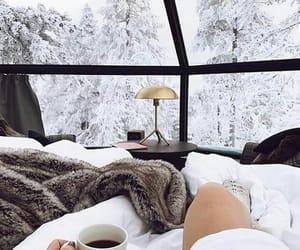 snow, winter, and cozy image