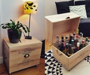 box, diy, and wine image