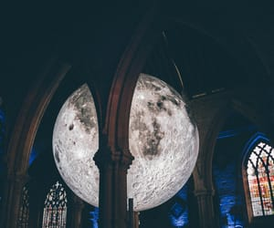 architecture, artwork, and moon image