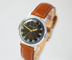 etsy, watch for men, and silver tone watch image