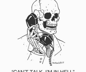 creepy, hell, and skeleton image