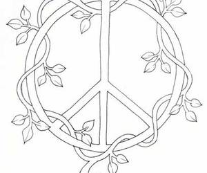 peace, sign, and vines image