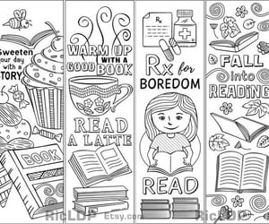 etsy, cartoon images, and books and reading image
