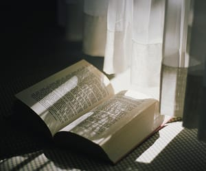 book and curtains image