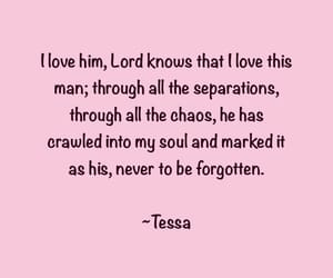 book, quote, and tessa image