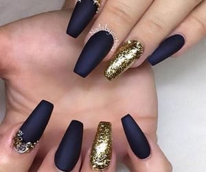 nails, art, and gold image