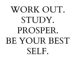 study, quotes, and workout image