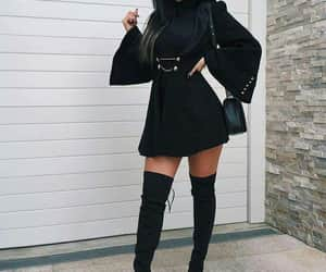 black, outfits, and boots image