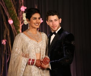 nick jonas, wedding reception, and priyanka chopra image