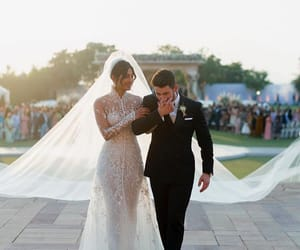 wedding, nick jonas, and priyanka chopra image
