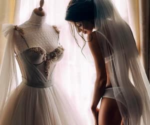 wedding, wedding dress, and girl image