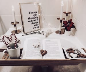 bath, christmas, and book image