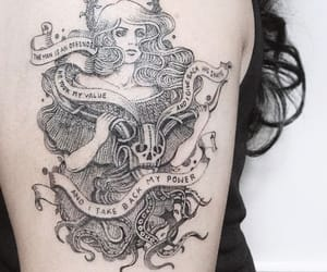 arm tattoo, feminist, and girl power image