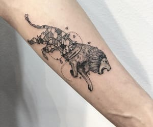 arm tattoo, art, and black image