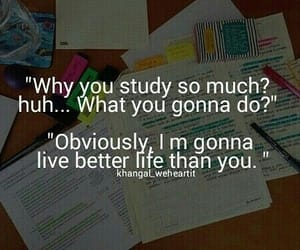 study, school, and life image