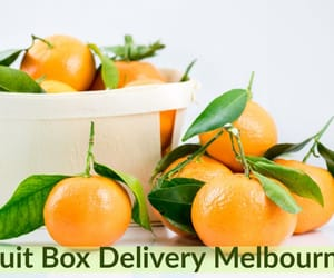 box, delivery, and fruit image
