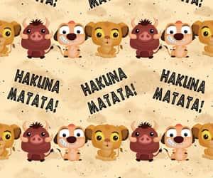 background, disney, and hakuna matata image