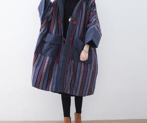 etsy, loose fitting coat, and women coat image