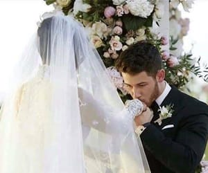 nick jonas, beautiful, and wedding image