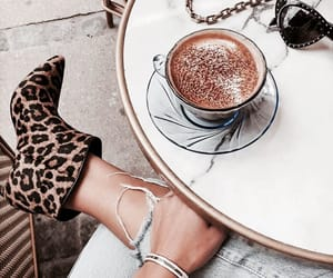 coffee, boots, and cafe image