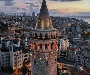 istanbul, travel, and galata kulesi image