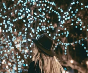 light, girl, and christmas image