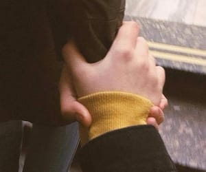 couple, holding hands, and Relationship image