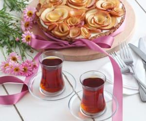 pink, tea, and stylish tableware image