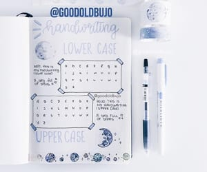 lettering, notes, and planner image