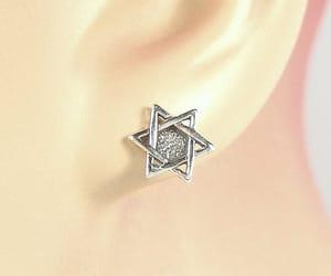 charm, earrings, and jewish image