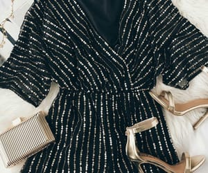 heels, outfit, and black image