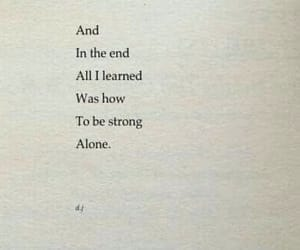 alone, book, and quote image