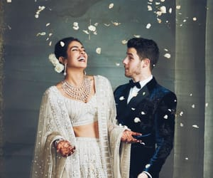 wedding, priyanka chopra, and love image