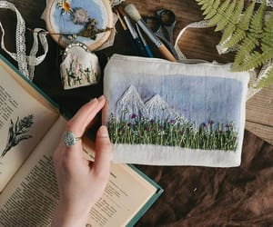 art, books, and nature image