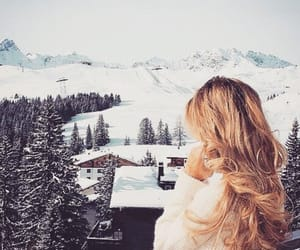 winter, blonde, and girl image