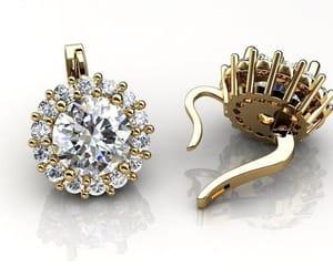 etsy, stud earrings, and flower earrings image