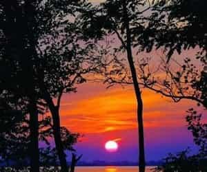 nature, sunset, and purple sky image