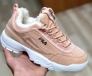 baby pink, Fila, and fur image