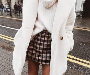 fashion, skirt, and winter image