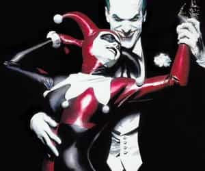 joker, harleyquinn, and madness image