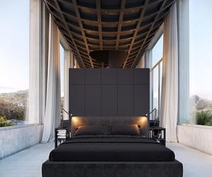 Arhitecture, bed, and black image
